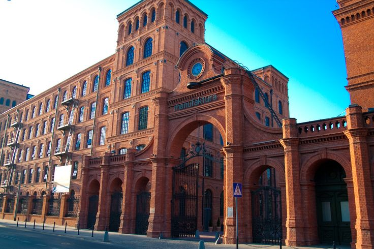 Manufaktura - shopping center related to to the Lodz industrial heritage