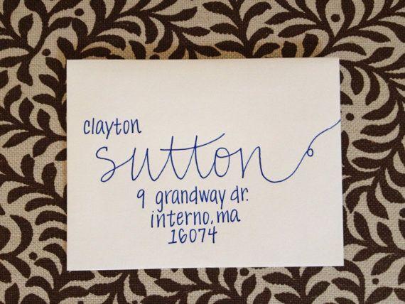 Handwritten Wedding Invitation Envelopes: Wedding Invitation Addressing