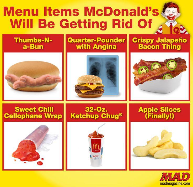Mad magazine menu items mcdonald s will be getting rid of - Fast good cuisine big mac ...
