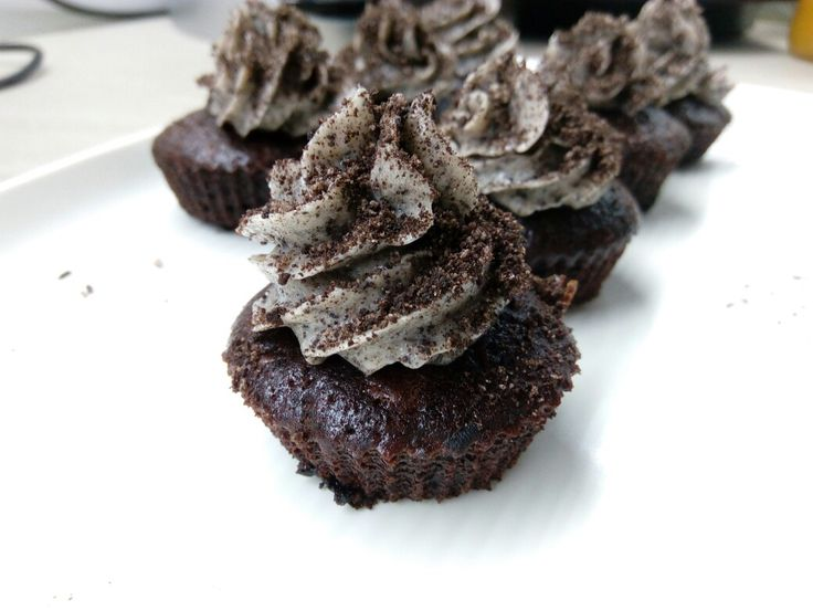 Oreo cupcake- the perfect use for oreos :-) Recipe: cupcake jemma