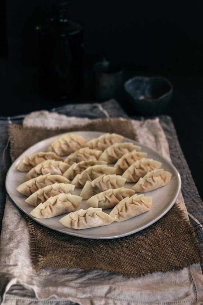 Pan Fried Kimchi Tofu Mandu | Korean Dumplings