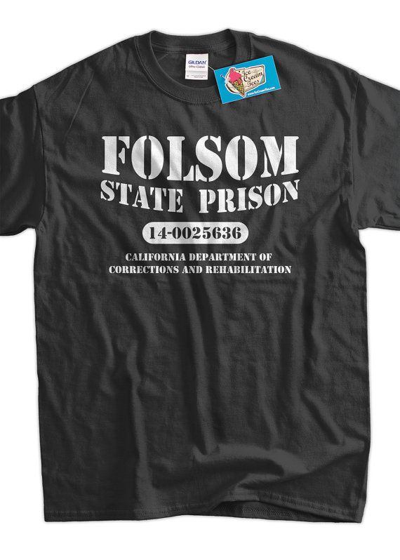 Folsom State Prison Cash Country Music Classic by IceCreamTees, $14.99