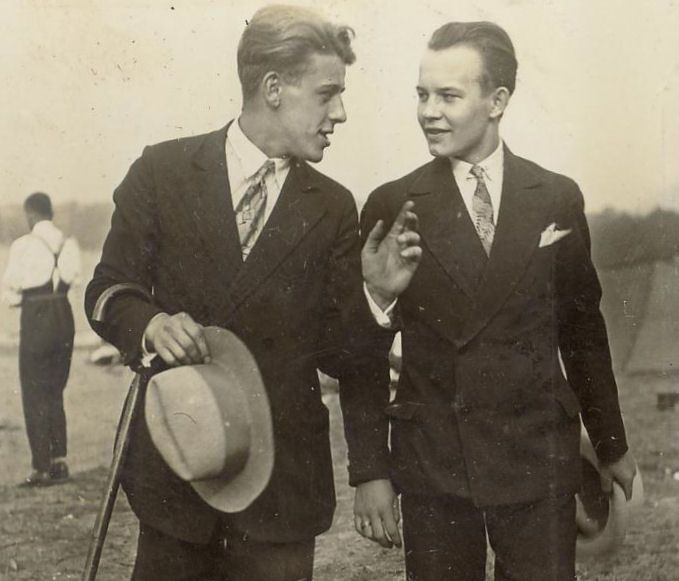 Well dressed young men, ca. 1930s.