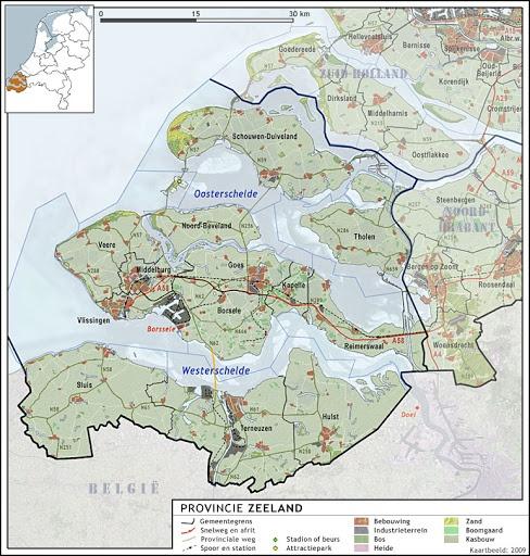 Topografie - Zeeland