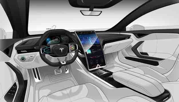2020 Tesla Model S Interior Tesla Model S Car Interior Sketch Tesla Interior