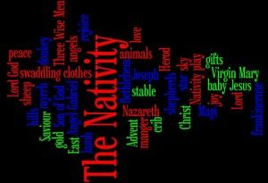 The Nativity vocabulary on a Wordle