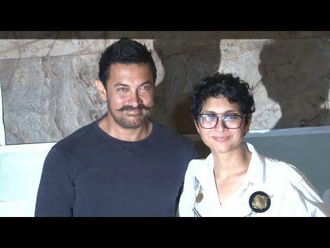 Aamir Khan with wife Kiran Rao at special screening of Kapoor & Sons movie.