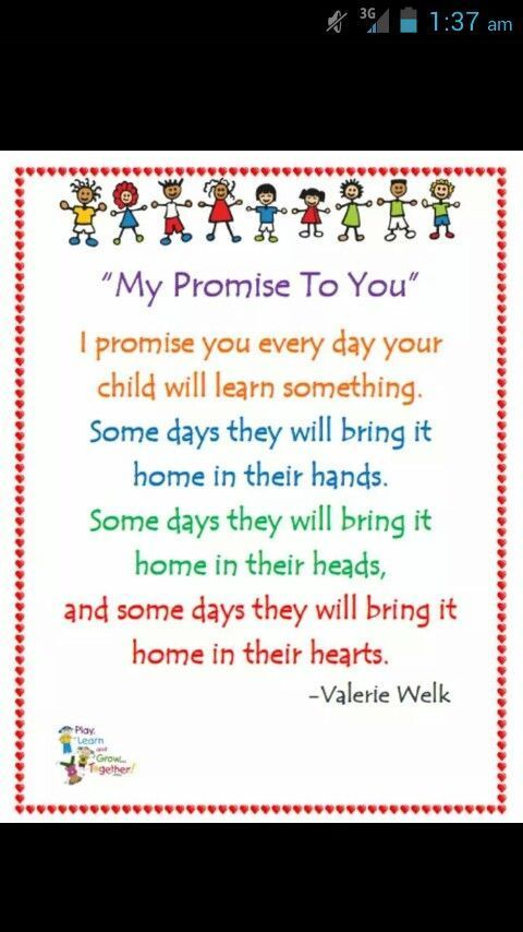 My promise to you More #startadaycare #daycareideas