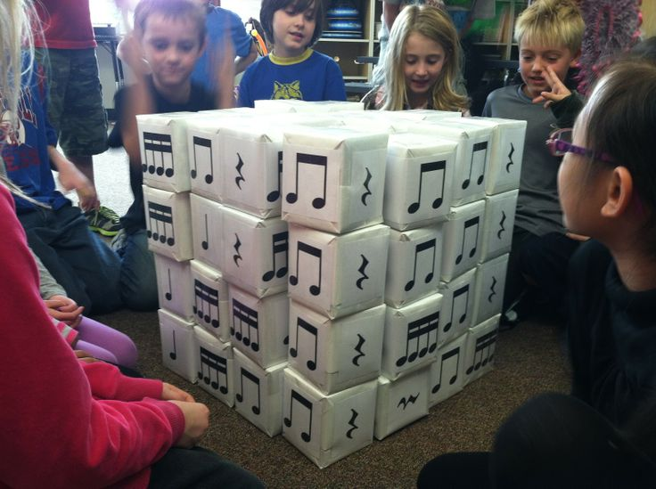 """Music a la Abbott: Dinah: rhythm """"house"""" made with empty square tissue boxes"""