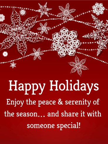 61 best seasons greetings cards images on pinterest anniversary send free gorgeous snowflake happy holidays card to loved ones on birthday greeting cards by davia its free and you also can use your own customized m4hsunfo