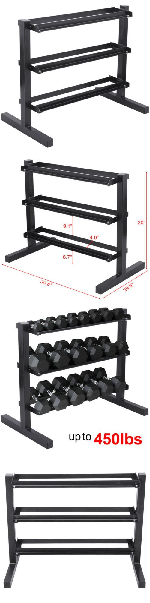 Weight Storage 179819: Fitness 3 Tier Dumbbell Rack Stand For Workout Weights Personal Gym Storage Us -> BUY IT NOW ONLY: $62.59 on eBay!