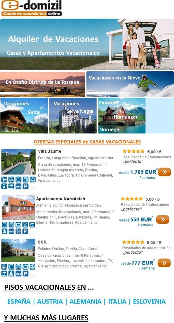 http://www.zunys.com/casas-apartamentos-vacacionales-en-alquiler-alojamientos-general - Alquiler de Casas y Apartamentos para Vacaciones, precios muy baratos. En España y Europa, resto del mundo en general