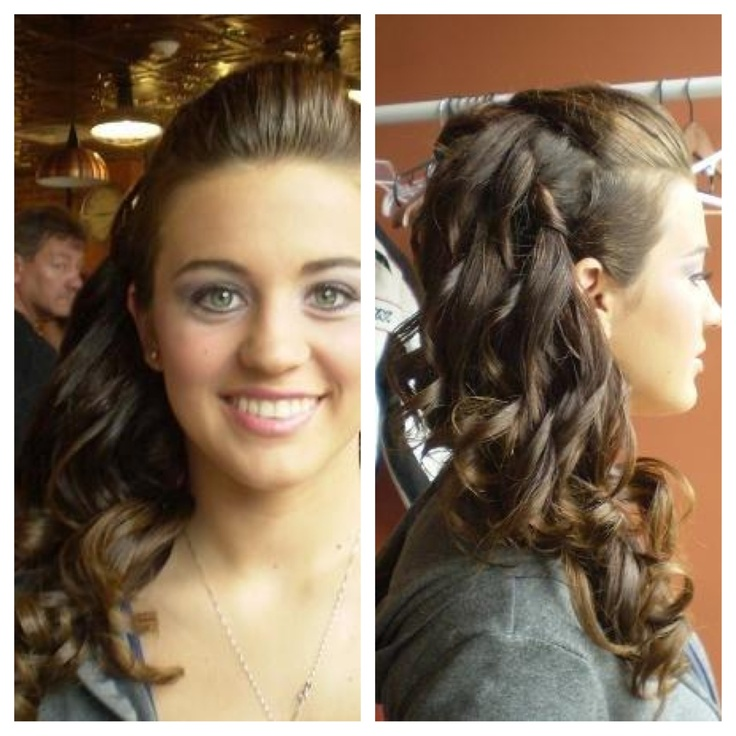 Hair & Nail Excellence, Side Ponytail, Curls, Prom