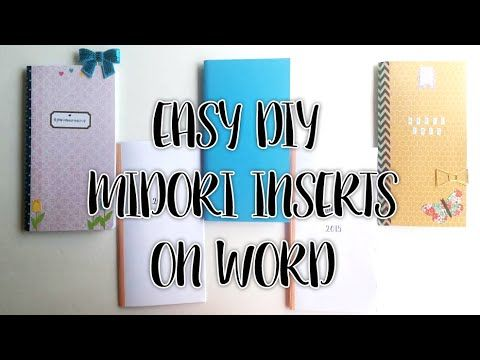EASY DIY MIDORI INSERTS ON WORD! - YouTube. Big kudos to inspiredblush for doing this tutorial!! All of my inserts are diy thanks to you. Saved so much money and even figured out how to make other templates :)