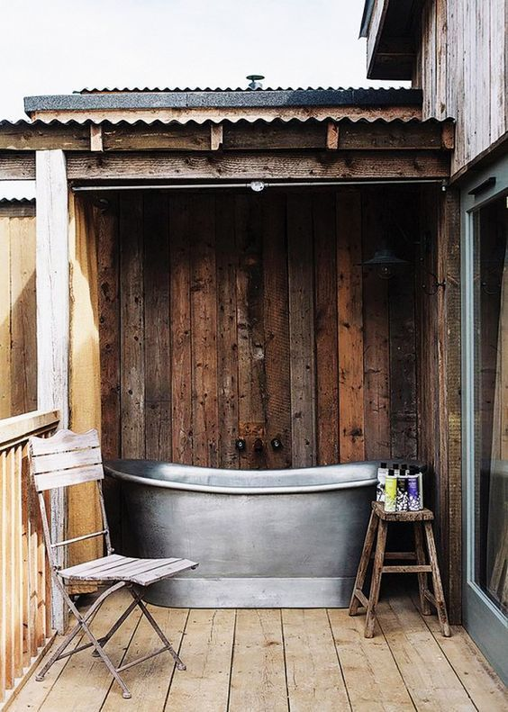 ... At Soho Houseu0027s Buzz Worthy New English Private Memberu0027s Club And  Country House Hotel, Soho Farmhouse, A Galvanized Steel Soaking Tub Has  Simple,.