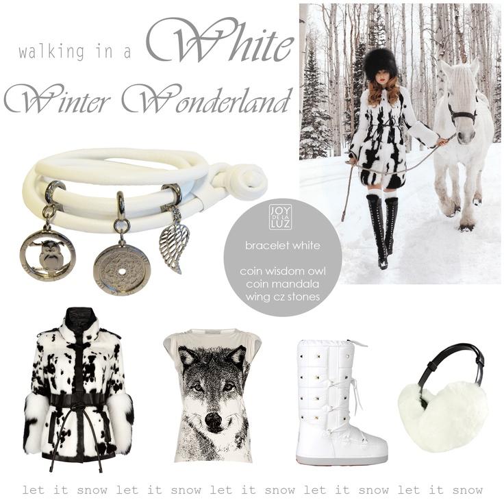 Joy de la Luz   Walking in a white winter wonderland