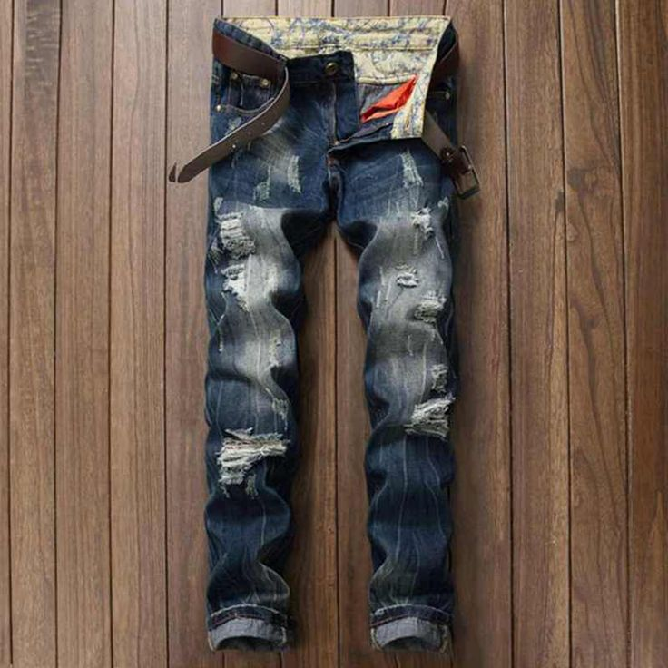 >> Click to Buy << Water Washing Cut Rotten Hole Broken Fashion Personality Beggar Jeans Streetwear Mens Ripped Biker Jeans Pantalones Vaqueros  #Affiliate