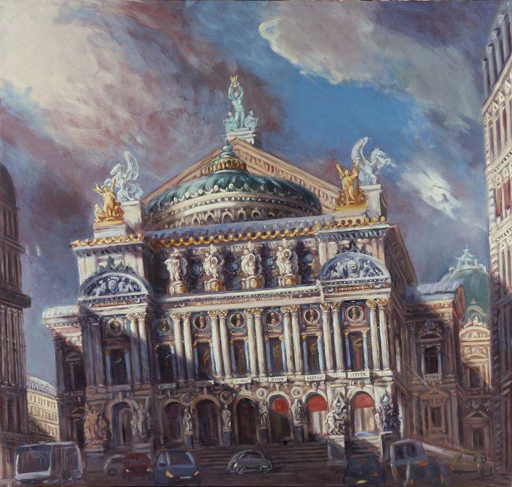Philippe Casanova; Opera Garnier (Paris); Oil on canva; 2014