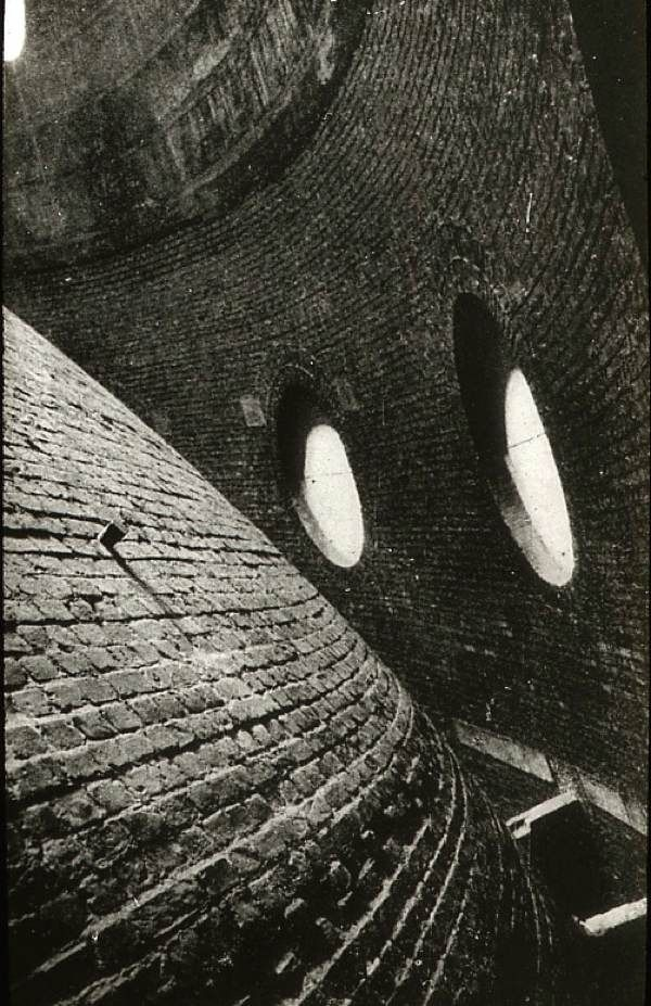 Between the interior and exterior domes at St Paul's Cathedral, c. 1920 London.