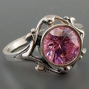 Серебряное кольцо Александрит 021992