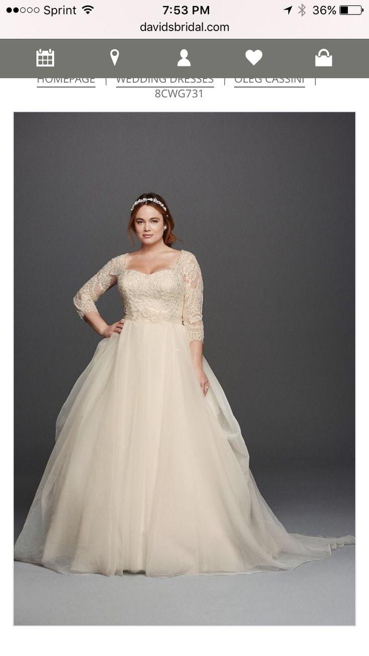 Champagne plus size wedding dresses   best What a Brilliant Bride Iull Be images on Pinterest  Wedding