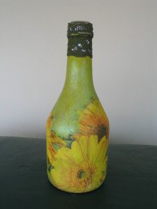 Sunny Sunflowers on a bottle