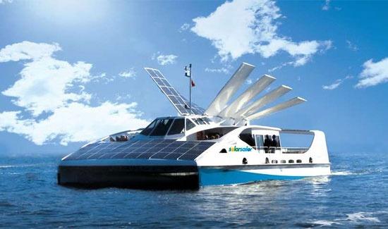 Solar powered boats