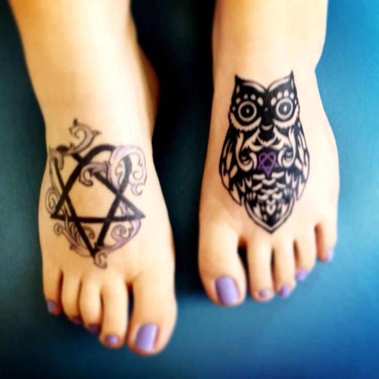My HIM related tattoos. #heartagram