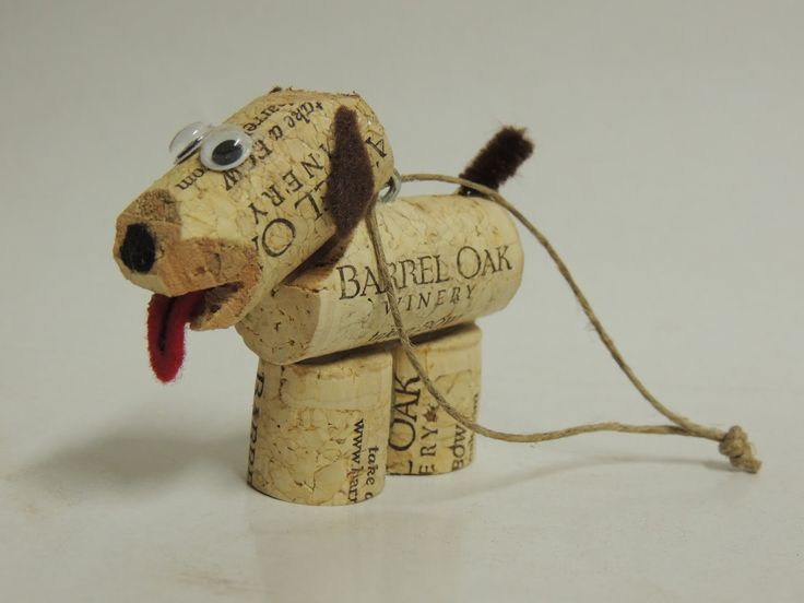 Cork pups - looking for a fun easy craft for the holidays?  Look no futher for a great way to repurpose your corks!                                                                                                                                                      More