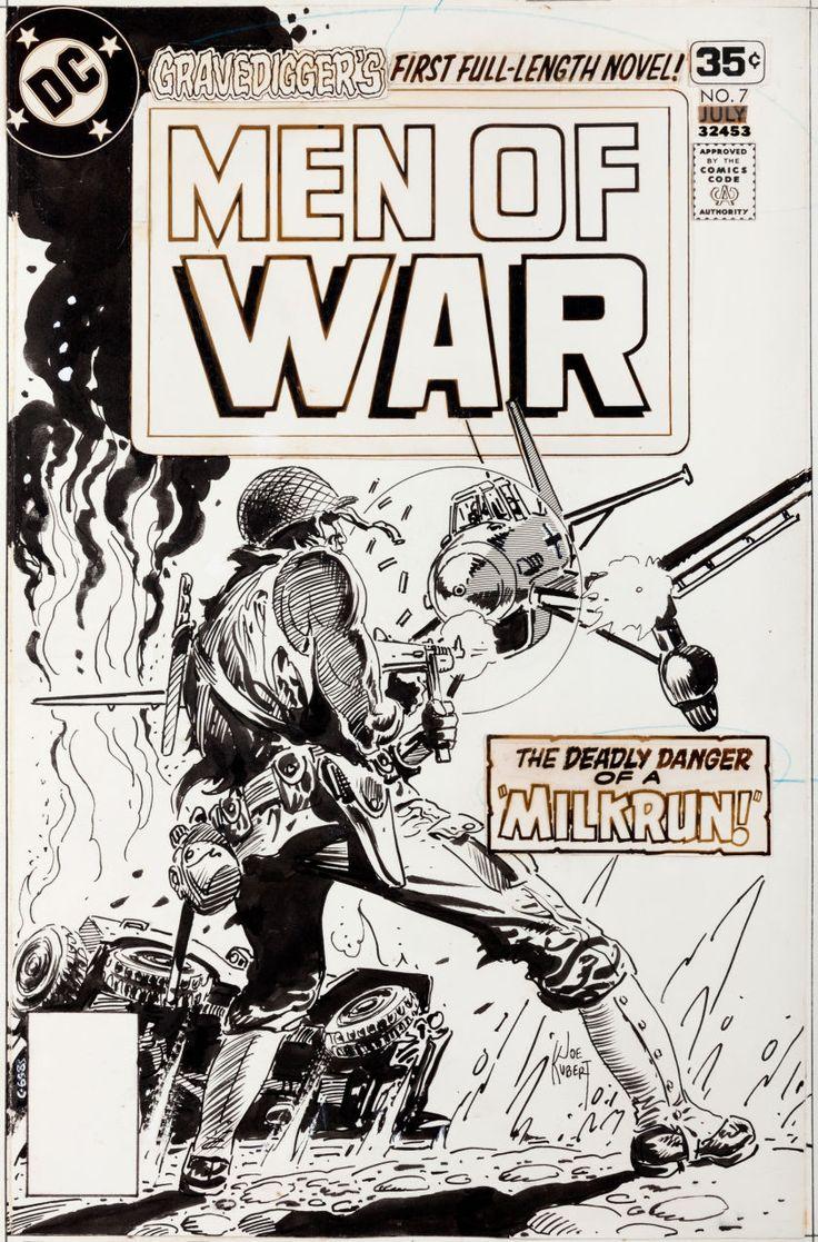 Original Comic Art:Covers, Joe Kubert Men of War #7 Cover Original Art (DC, 1978).... Image #1