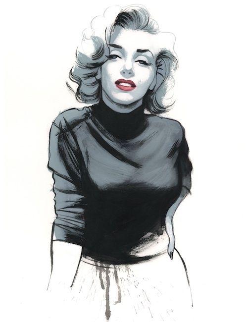 how to draw marilyn monroe pop art