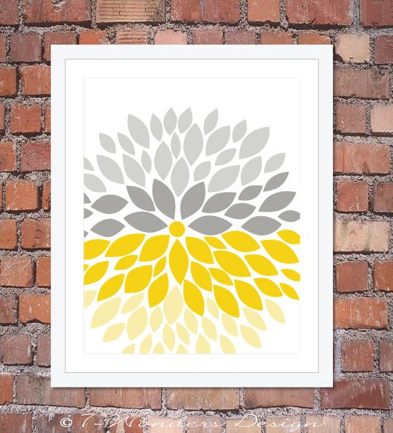 Flower Bursts Modern Home Wall Art Print 8 x 10 by 7WondersDesign, $18.00