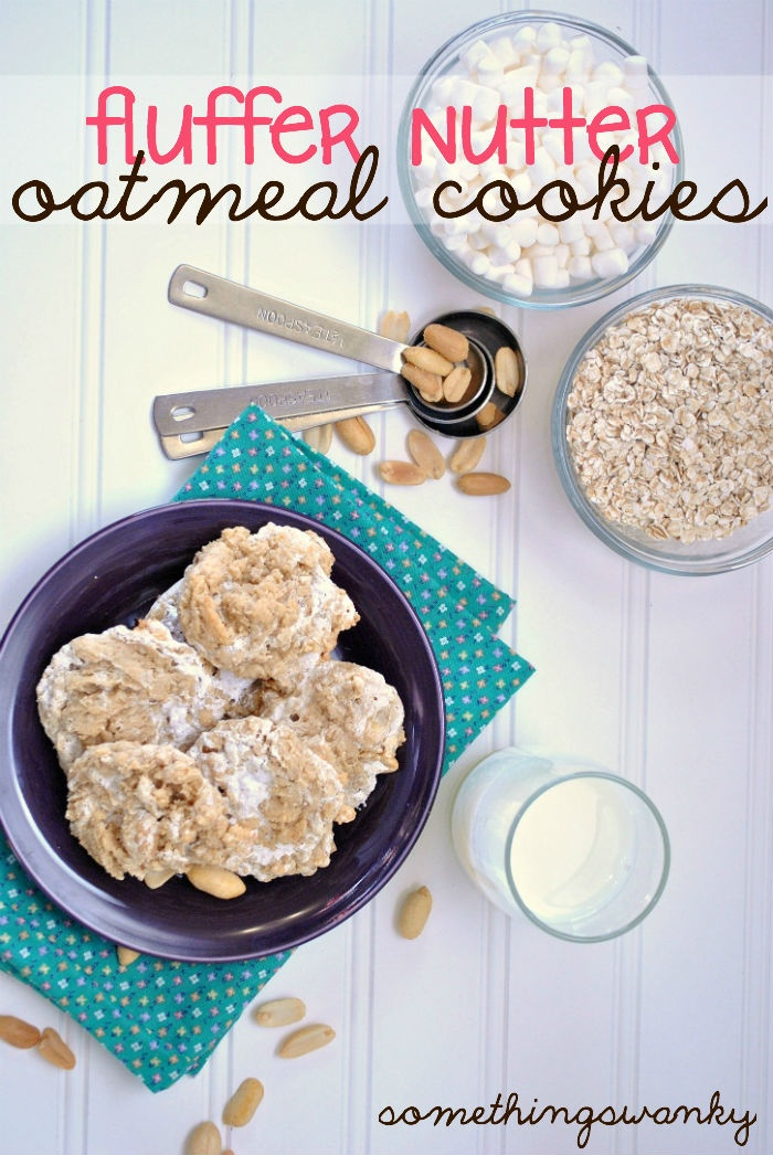 Something Swanky: desserts and designs.: Fluffer Nutter Oatmeal Cookies