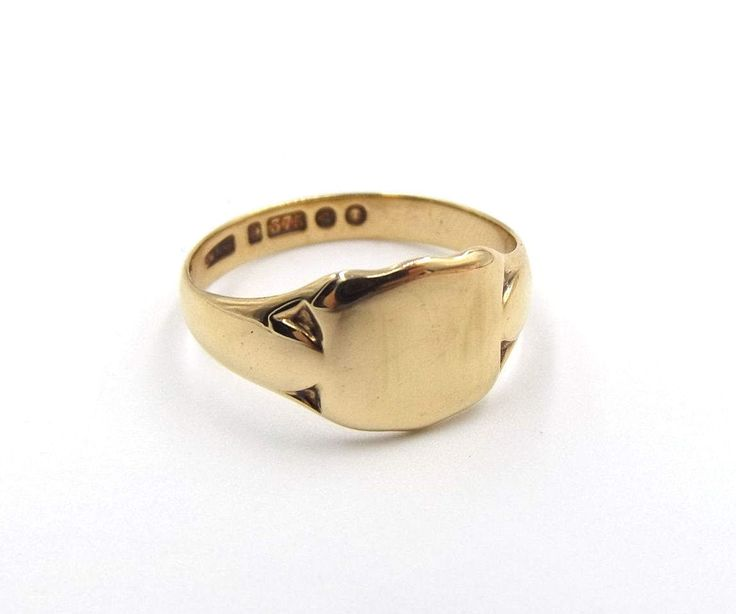 Antique 9ct Gold Signet Ring | 9k Vintage Men's Ring | UK size T ~ US size 9 1/2 | Gent's Ring Hallmarked 1936 by DaisysCabinet on Etsy