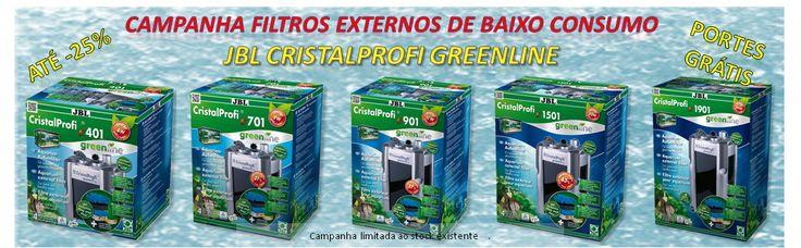 Campanha Filtros JBL CristalProfi GreenLine - Descontos até -25% | Aquacomets - Aquários, filtros e acessórios para aquariofilia.