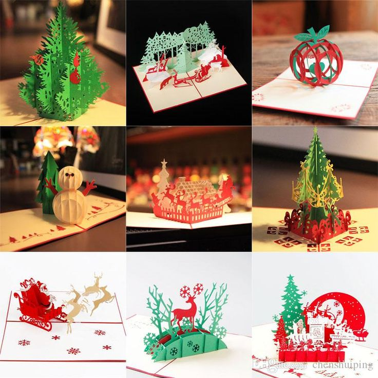 15 StylesWholesale Christmas Greeting Card 3d Handmade Xmas Gift Stationery Card Vintage Retro Pierced Post Greeting Cards Send Happy Birthday Card Singing Birthday Cards From Chenshuiping, $24.63| Dhgate.Com