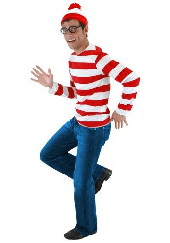 You can choose to stand out in a crowd or blend right in when you're dressed as Waldo. Become the classic storybook character that you spent hours trying to find as a kid!