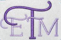 Monogram Fonts | Apex Embroidery Designs, Monogram Fonts & Alphabets