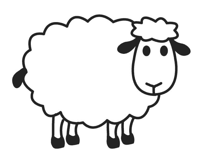 17 best images about on pinterest folk art for Sheep coloring page