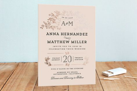 Wedding Bouquet Foil-Pressed Wedding Invitations by Chris Griffith at minted.com