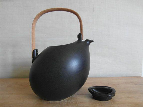 Vintage Søholm Denmark   teapot  ÅBO  matte black  by danishmood