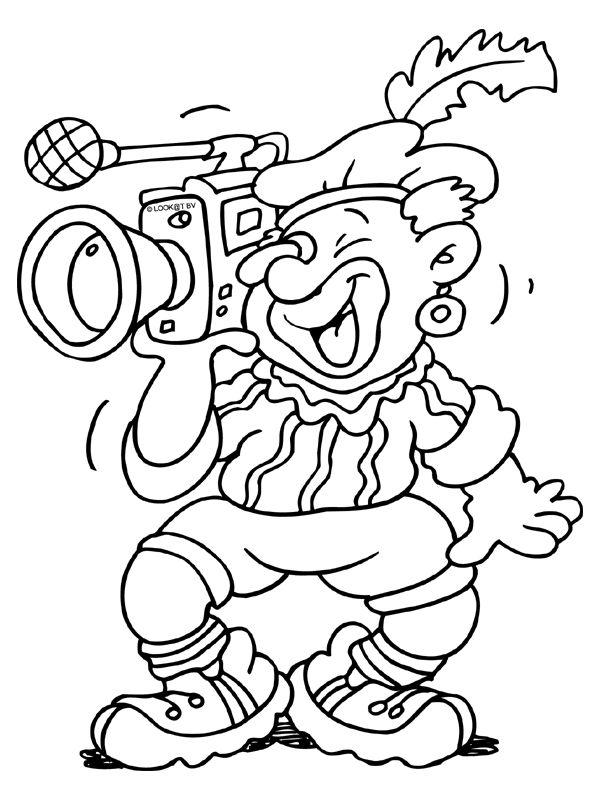 zwarte piet als cameraman kleurplaten zwarte piet en