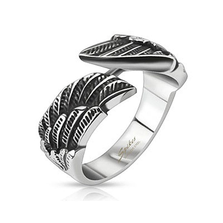 Angel Wings Cast Band Ring, Women's