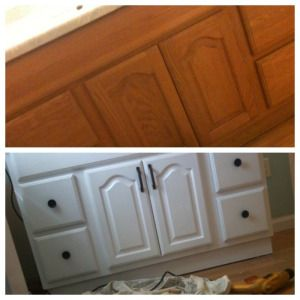 How To Paint A Bathroom Vanity Cupboard With Step By Step Instructions And  Images. Low