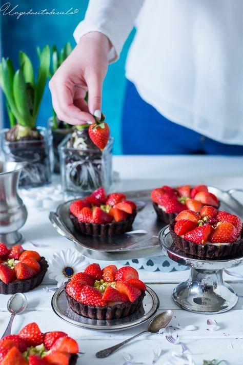 un pedacito de cielo: Tartaletas de fresas y chocolate blanco