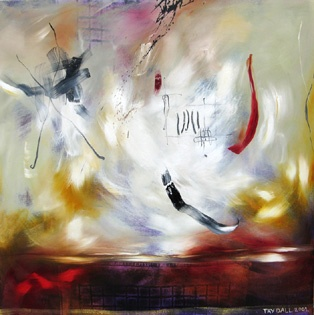 ENRAPTURED LANDSCAPE (90 x 90)cm by Tay Dall. I met Tay while working with her on a joint art display, with several South African contemporary artists. A beautiful, talented artist.