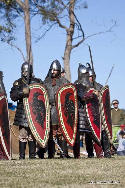 The New Varangian Guard always has a great range of armour and weapons at the Abbey Medieval Festival, the best cultural festival in Brisbane. What's more, they are not afraid to use it: they are some of the most enthusiastic participants in the battles at our medieval tournament!