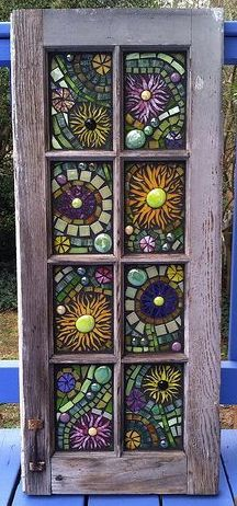 Stained glass mosaic window