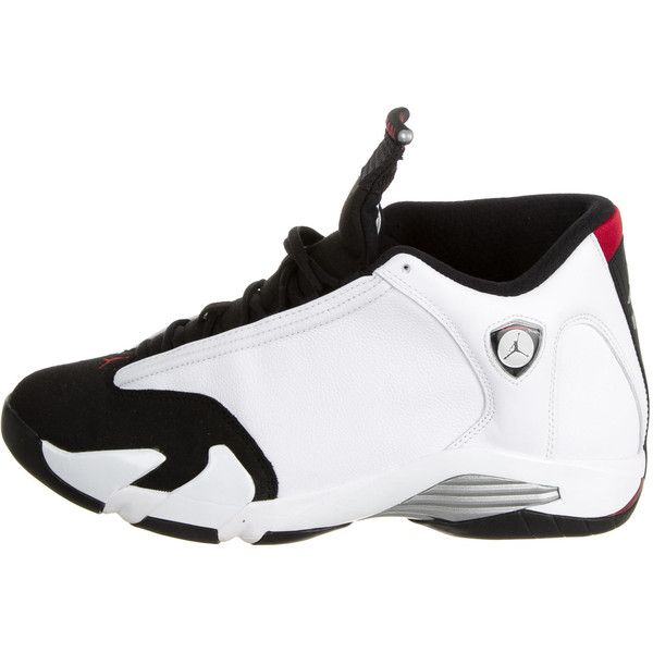 Pre-owned Nike Air Jordan Retro 14 Sneakers ($275) ❤ liked on Polyvore featuring men's fashion, men's shoes, men's sneakers, white, mens shoes, mens sneakers, colorful mens shoes, mens lace up shoes and mens white sneakers