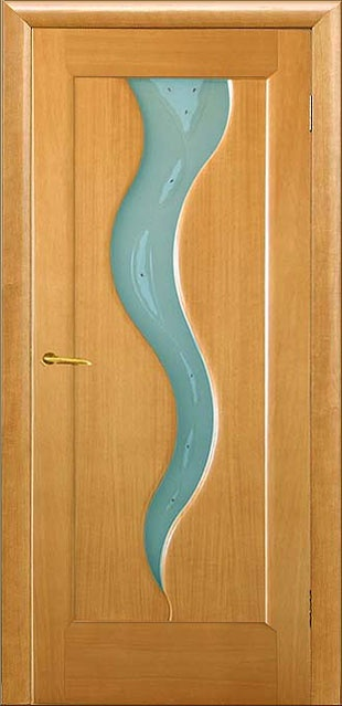 Custom wood interior door